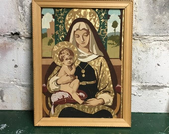 Paint by Number Madonna Mary Framed  #2