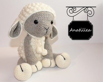 PATTERN : Sheep / Lamb - Amigurumi - Sheep - Amigurumi - Lamb - crochet sheep - crochet lamb - Knitted Stuffed animals- doll-toy-baby shower