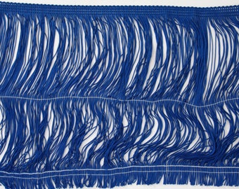 "Royal Blue Chainette Fringe 12"" Trim, Dance Costumes, Flapper Fringe, Decorating, Costume Supply, Tassel Trim, Sewing Trim By the Yard"