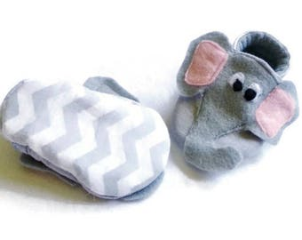 Elephant Shoes, Elephant Infant Clothes, Baby Booties, Elephant Baby Shoes, Halloween Costume, Baby Gift, Soft Sole Baby Shoes, Crib shoes