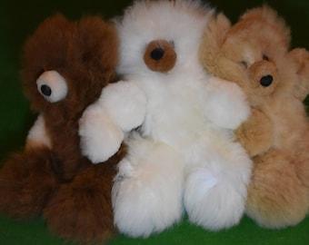 Alpaca wool plush teddy bears