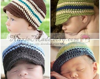 0-3 months Baby Hat, Choose Your Color, Boy Hat, Baby Boys Hat, Stripes Hat, Newsboy, Custom Hat, Hat for Boys, Hat with Brim, Winter Hat