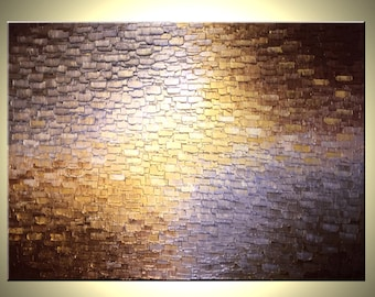 Gold and Silver Abstract Painting, Original Textured LFA Studios Fine Art - Available Sizes: 16x20, 18x24, 24x30, 24x36, 24x48, 30x40, 36x48