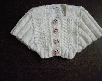girl Butterfly sleeve jacket size 9 months
