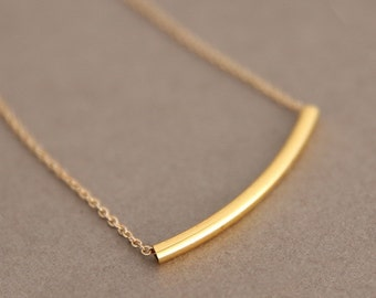 Jewelry, 14K Plated, Necklace, Women's Minimal Necklace, White Gold, Chain Necklace, Bar Necklace, Simple,  Minimalistic