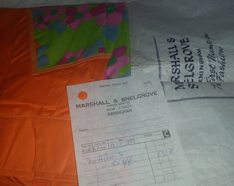 Brand new aprons pinnies 1960s 1970s in original bag with reciept