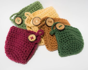 Crochet Apple Cozy - Choose Your Color - Cotton Cozy  - Teacher Gift - Back To School - Stocking Stuffer - Gift For Mom
