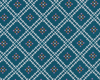 Jenny's Plaid in Spruce - Stay Gold by Aneela Hoey - Cloud 9 Organic cotton fabric