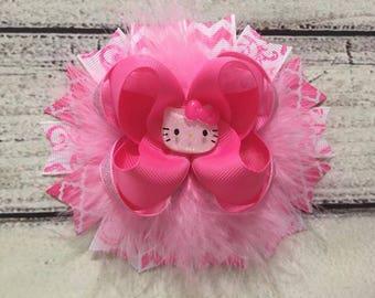 Hello Kitty Hair Bow Hello Kitty Boutique Hair Bow Hello Kitty Stacked Hair Bows Girls Hello Kitty Hair Bow Hello Kitty Hair Clip
