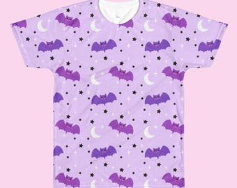 Pastel Goth Baby Bats - All Over Print T-Shirt