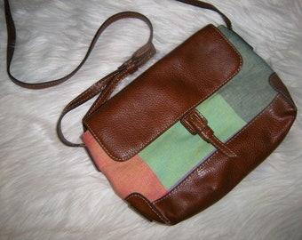 Liz Claiborne Multi- Color Color block Cross Body - Satchel - Saddle - Shoulder Bag ~ Indie ~ Hipster