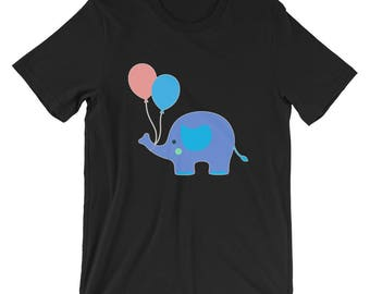 Elephant Print T-shirt Animal Lover Tee