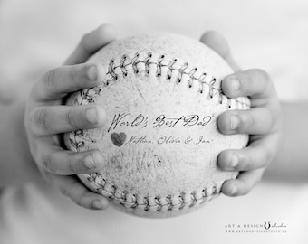 Father's Day Gift, Personalized Present for Dad, Custom Gift, From Son, For Father, Baseball Art, Sports Print, Gift for Him, Best Dad Gift