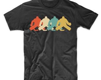 Hockey Goalie Retro Pop Art Hockey Graphic T-Shirt