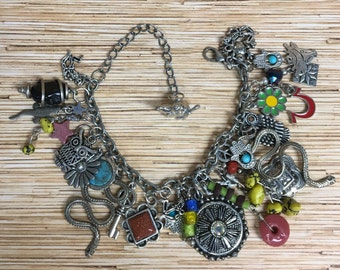 Dead Show Hippie Recycled /Upcycled Charm Bracelet