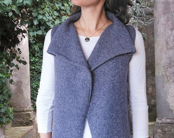 Drape Front Vest to Knit PDF Pattern Instant Download