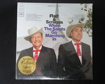 Flatt and Scruggs When The Saints Go Marching In Sealed Vinyl LP, Flatt & Scruggs Gospel Album
