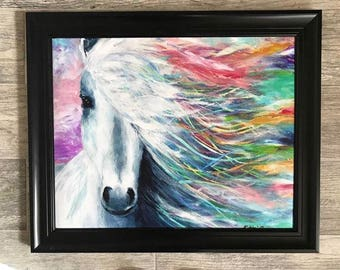 Colorful Horse Print | Horse Art | Horse Decor | Horse Gift | Girl's Room | Horse Lover Gift | Horse Painting Print | Colorful Horse | Horse