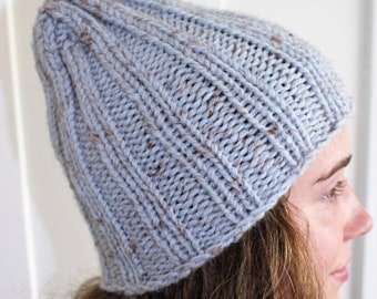 Light Blue Flecked Wool Hat