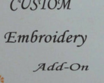 Add extra embroidery to my order