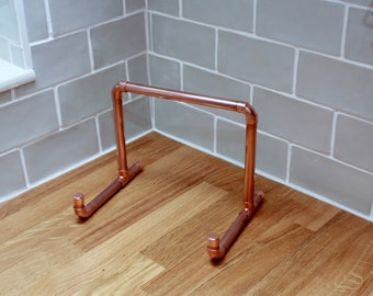 Copper pipe recipe book / tablet / ipad stand