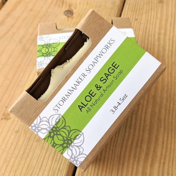 Aloe & Sage All Natural, Handmade Artisan Soap, Palm Free, Vegan