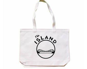 City Living Tote bag - The Island - Alameda - California - Market bag - Reusable bag - Canvas tote - Shopping bag - Shoulder bag - Organic