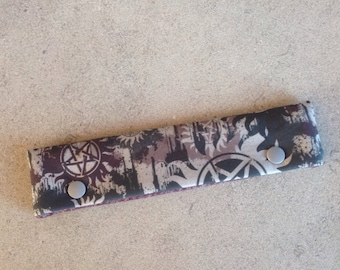 Supernatural inspired DPN knitting needle cozy - ready to ship