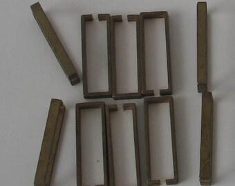 SALE  10 p 24mm Open Brass Rectangle