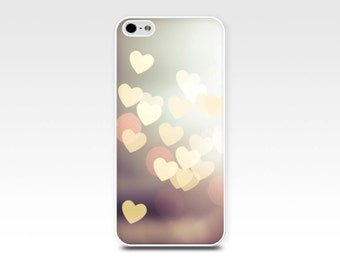 iphone 6 case heart iPhone 6s case iphone case 5s abstract fairy lights iphone 4 case photography fine art iPhone case beige gold girly