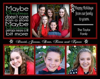 Christmas Card - Photo Holiday 5x7 or 7.5x6 (Costco Card Size) Printable Digital Card