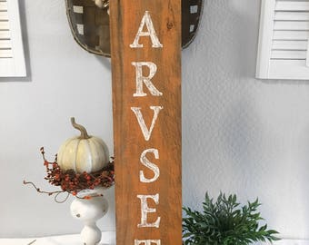 Harvest Sign - Reclaimed Wood Sign - Wall Decor - Rustic Wall Decor - Harvest Wall Decor