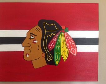 Chicago Blackhawks Sports Canvas 16x20