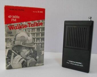 Vintage Realistic Walkie Talkie with Original Box