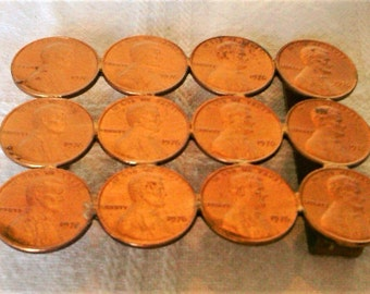 "Vintage Mens Copper Belt Buckle Made Out of Copper ""Pennies?"""