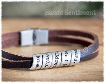 Long Distance Relationship • Boyfriend Gifts • Mens Anniversary • Gift For Men • Mens Personalized Bracelet