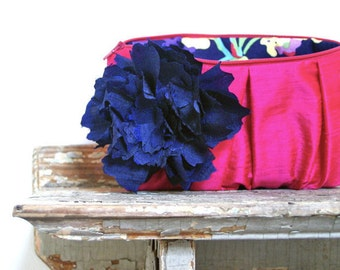 Fuchsia Bridesmaid Clutches. Navy Blue Wedding Clutch. Bridesmaid Gifts. Wedding Gifts. Summer Wedding Clutches. Bridal Clutch Purse. Eclu