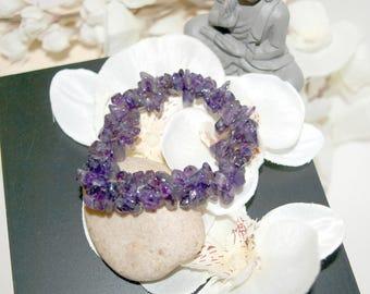 Bracelet with Amethyst gem chips