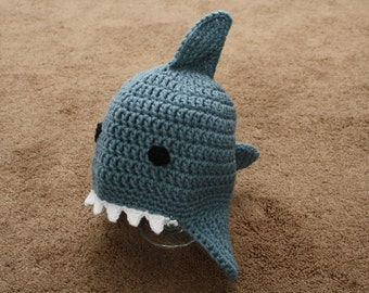 Crocheted Adult Shark Hat