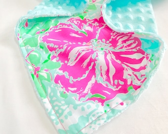 New Lilly Pulitzer Print Baby Blanket