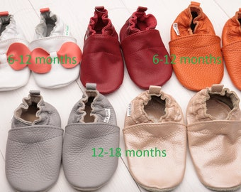 HOT SALE! Baby shoes, Leather baby shoes, Soft sole baby shoes leather, Baby girl shoes, Baby boy shoes, Size 6-12, 12-18- months
