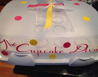 Personalized Wilton Cupcake/Muffin Carrier