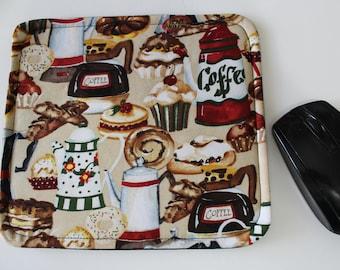 Mousepad,  Mouse Pad,  Custom Mousepad, Coffee Print Mousepad