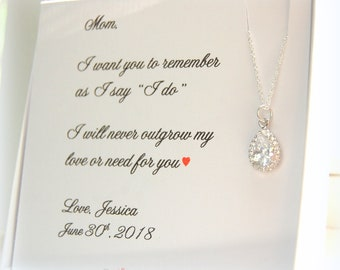 Mother of the Bride Gift, Mother of the Groom Gift, Wedding Jewelry, Personalized Mother of Bride gift, wedding gift to mother of the bride