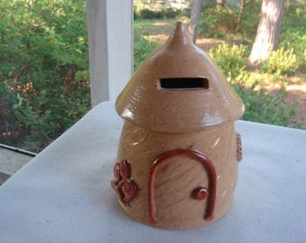 Whimsial Fairy House Bank, Coin Bank