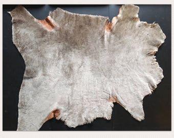 Charge de panier photographie couche de bronzage marron agneau en peau de mouton naturelle