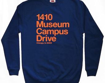 Chicago Football Stadium Sweatshirt - Men S M L XL 2x 3x - Crewneck, Chicago Shirt, Sports - 4 Colors