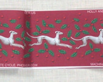 Jane Walker Design Holly Hound Collar Strip Fabric SH-Holly Red