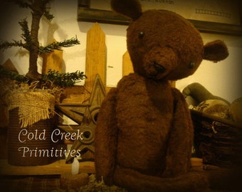 "Primitive  Folk Bear ""Rufus"""