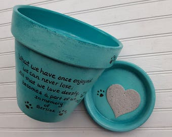 Pet Sympathy - Dog Sympathy - Cat Sympathy - Pet Memorial - Cat Memorial - Dog Memorial - Painted Planter - Painted Flower Pot